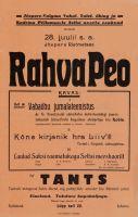 Plakat, Jõepere-Valgma Vabatahtlik Tuletõrje Ühing, rahvapidu, ETMM _ 8279 Af 31:2/T, Eesti Teatri- ja Muusikamuuseum, http://www.muis.ee/museaalview/1532412.