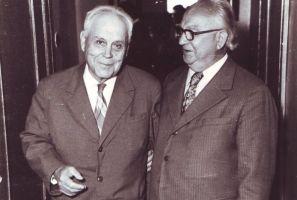 Foto: autor, kuupäev? Jaan Pakk vasakul, Elmar Kanter paremal. Kadrina Keskkooli arhiiv.