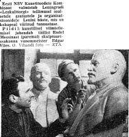 """Lenini büstide valmistamine, """"Punane Täht"""" 20.11.1962."""