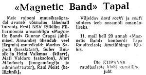 Magnetic Band, Punane Täht, 8.05.1979.