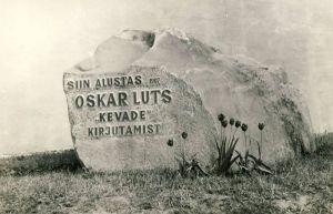 Mälestuskivi Oskar Lutsule Rakkes, RM F 783:18, SA Virumaa Muuseumid, http://www.muis.ee/museaalview/1722909.
