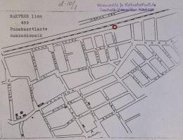 Mälestuskivi asukoha kaart. Muinsuskaitseameti arhiiv.