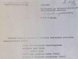 Bareljeefi teksti kinnitamine. Muinsuskatseameti arhiiv.