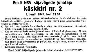 Virumaa Teataja, 8.07.1941