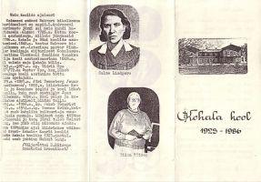 """Voldik """"Kohala kool 1923-1986""""."""