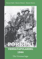 """Raamat """"Porkuni vennatapulahing 1944"""""""