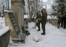 Foto: Vabadussõja relvarahu aastapäeval 03.01.2010. Tapa muuseum