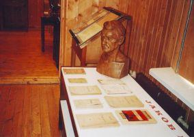 Foto: E. Moisa, 26.02.2004. Jakob Liivi teemaline näitus muuseumis. Väike-Maarja muuseumi kogu.