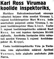 Virumaa Teataja, 6.09.1940