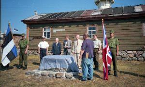 Mälestusmärgi avamine Vaindloo saarel Briti laevastiku meremeestele, kes hukkusid 1721. aastal., MM F 1898/4, Eesti Meremuuseum SA, http://www.muis.ee/museaalview/2839021.