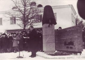 E. Vilde monumendi avamine, TALK EVMF 589:3 EVMF 589, Tallinna Kirjanduskeskus, http://www.muis.ee/museaalview/2263229.