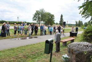 Foto: Hilje Pakkanen, 16.08.2018. Kõneleb koduloouurija August Kondoaja.